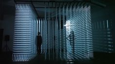 Nonotak's installation features walls of abstract light which beguile and then trap the viewer.