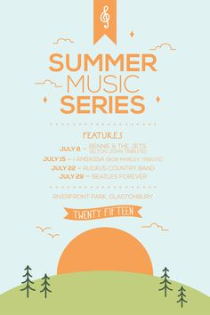 """Check out this @Behance project: """"Summer Music Series Poster"""" https://www.behance.net/gallery/40673451/Summer-Music-Series-Poster"""