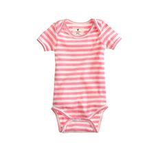 Baby one-piece in classic stripe : newborn | J.Crew