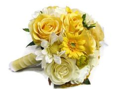 yellow roses with white shasta daisies - Google Search