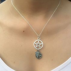 Supernatural Themed; Dean's Pie and Pentacle Necklace. | eBay