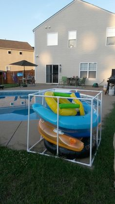 Pool Cover Storage Ideas outside storage aircon cover Pool Toy Storage