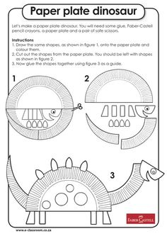 Didn't do this exact one, but along the same lines. Dinosaur Worksheets, Dinosaur Theme Preschool, Dinosaur Activities, Dinosaur Party, Preschool Crafts, Paper Plate Art, Paper Plate Crafts, Paper Plates, Classroom Art Projects