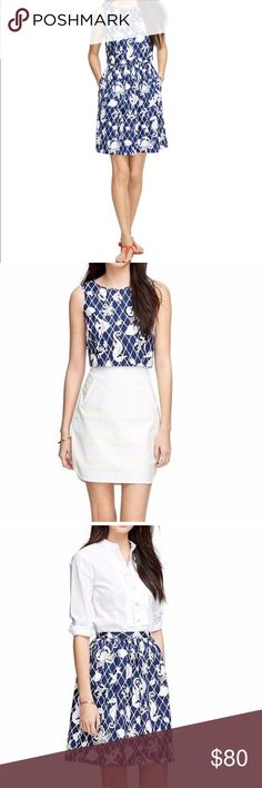 Brooks Brothers 3 in 1 Sea Creatures Dress brooks brothers 3 in 1 sea creatures dress in navy and white. top detaches from the skirt and can be worn as a dress, top, and skirt. Brooks Brothers Dresses