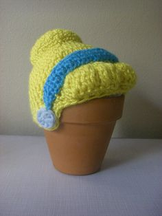 Cinderella Hat for Newborn Crochet by StrungOutFiberArts on Etsy, $25.00
