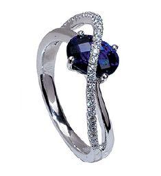 Sapphire and Diamond Ring from Mark Silverstein Imagines. #arthursjewelers