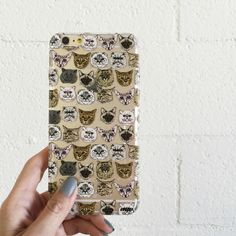 """Clear Plastic Case Cover for iPhone 6 (4.7"""") Cat Overload 2"""