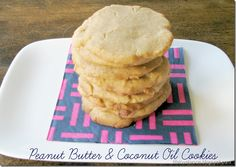 Peanut Butter & Coconut Oil Cookies