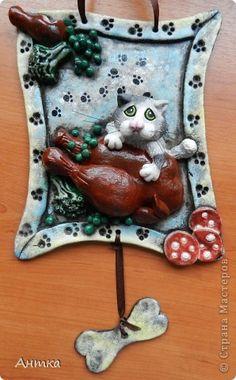 Интерьер Картина панно рисунок Поделка изделие 1 апреля Лепка Из жизни кошек и котов Часть 1 Тесто соленое фото 1