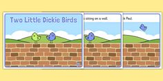 Two Little Dickie Birds Sequencing - Two Little Dickie Birds, nursery rhyme, rhyme, rhyming, nursery rhyme story, nursery rhymes, Two Little Dickie Birds resources, Peter, Paul, sequencing