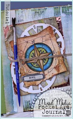 Tammy Tutterow | Pocket Art Journal Tutorial featuring Tim Holtz, Sizzix, and Simple Stories