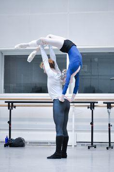 """Sarah Lamb and Steven McRae - rehearsals for """"Metamorphosis"""""""