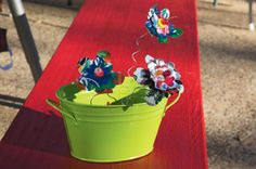 Eco-Chic Trend Recycled Aluminum Can Die Cut Flowers