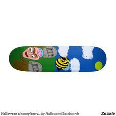 Halloween a honey bee visiting a graveyard skateboard Skateboards For Sale, Halloween Design, Artwork Design, Hard Rock, Bee, Honey, Honey Bees, Bees, Hard Rock Music