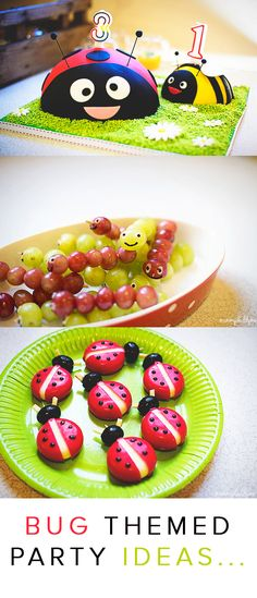 Bug Themed Party ideas- all children love creepy crawlies and will love a bug party.