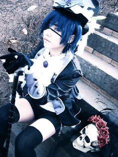 Ciel phantomhive from black butler yeah♥ Ciel Cosplay, Epic Cosplay, Casual Cosplay, Amazing Cosplay, Cosplay Outfits, Anime Cosplay, Cosplay Ideas, Black Butler Cosplay, Black Butler Ciel