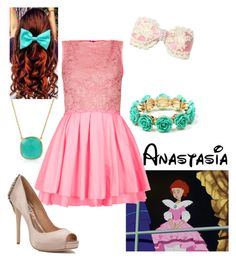"""""""Disney - Anastasia"""" by briony-jae ❤ liked on Polyvore featuring Amrita Singh, Bling Jewelry, Anastasia, Topshop and Badgley Mischka"""