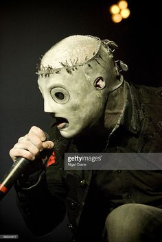 Corey Taylor lead singer of American metal band Slipknot performs on stage at the Hammersmith Apollo in London on December 2 2008.