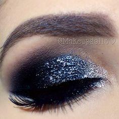 gorgeous glam glitter eye #makeup #lashes