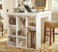 This is the desk I want - and best of all, it used those Target Cubes with a homemade top. Hello, sweet DH the carpenter!!