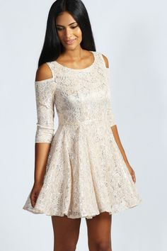 Amelia Lurex Foil Dress at boohoo.com