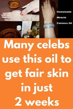 Many celebs use this oil to get fair skin in just 2 weeks This homemade aromatic fairness oil is a super lightweight moisturizing oil and skin lightener.It gives your skin a boost of moisture and healthy white glow without clogging pores or making your skin greasy.This fairness oil lightens your skin remarkably if used regularly.It protects your skin against UV damage and reduces the signs of aging, it …
