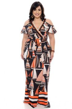 Vestido Plus Size Sheile Plus Size Long Dresses, Simple Dresses, Plus Size Outfits, Plus Size Fashion For Women, Fashion Tips For Women, Plus Size Women, Pear Shape Fashion, Vestidos Plus Size, Modelos Plus Size
