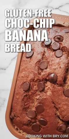 Gluten free baking banan bread with chocolate chips - an easy and delicious banana bread recipe which tastes like banana! Easy to make and bake with chocolate chips for something a little different.