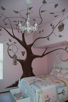 fun! would like to paint a tree like this in my grandkids room and put their picture on the branches