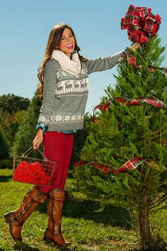 Sleigh Ride With You Sweater-Heather