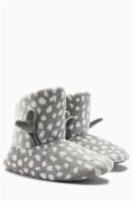 Shop for Clothes, Shoes, Electricals, Homeware & Womens Slippers, Ladies Slippers, Slipper Boots, Latest Fashion For Women, Reindeer, Shopping, Design, Grey, Gray