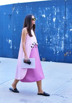 A cool way to wear pink