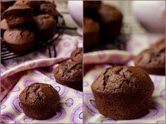 Bocados dulces y salados: Pastelitos esponjosos de chocolate