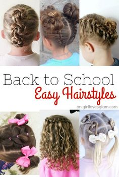 Easy back to school hairstyles for little girls. No more hectic mornings with these simple hairstyles to use for school and any day!