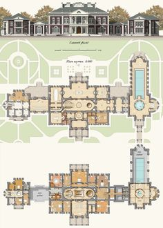 House Plans Mansion Layout Ideas For 2020 House Plans Mansion, Sims House Plans, Luxury House Plans, Dream House Plans, House Floor Plans, Luxury Houses, Mansion Houses, Castle Floor Plan, Castle House Plans