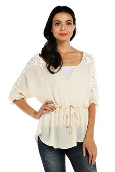 SWEET DAYS GRECIAN BLOUSE- Ivory