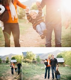 Family Portrait Photography on COUTUREcolorado BABY by Campfire Studios (formerly revert photo) |  featuring autumn pumpkin spice sweaters | toddler hand holding + swinging from mom and dad's arms