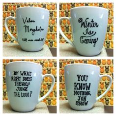 Hey, I found this really awesome Etsy listing at https://www.etsy.com/listing/170936006/game-of-thrones-got-single-coffee-mugs