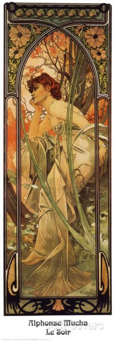 Evening Prints by Alphonse Mucha at AllPosters.com