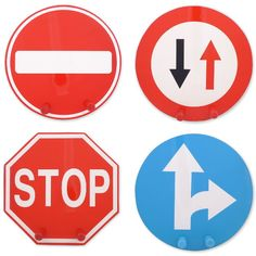 Fun directional traffic/street sign themed wall hooks