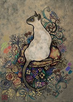 """Cats Siamese is a 1000 piece jigsaw puzzle from Heye featuring artwork by Jane Crowther. Puzzles measures approx. 19"""" x 27"""" when complete."""