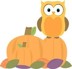 Owl fall clip art