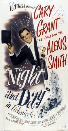 """Best Film Posters : Cary Grant """"Night and Day"""""""
