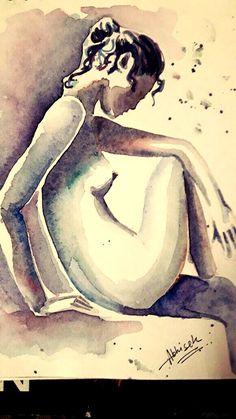 #nudeSERIES #minimalisticART #Watercolour @d