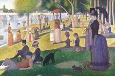Georges Seurat (1859-1891) -  Un dimanche après-midi sur l'île de la Grande Jatte - Pointillisme