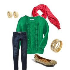 """Christmas Casual"" by byourself on Polyvore"