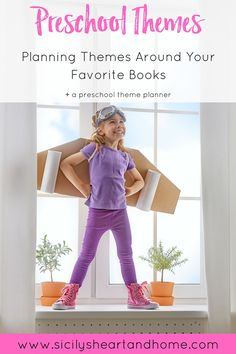 How to Create Preschool Themes Around Books | Figuring out a preschool theme for your preschooler can be a challenge. You spend hours planning preschool activities that your child has no interest in. I have a solution for you. By creating preschool themes around books your preschooler loves will increase engagement and learning. Click through to learn how I plan preschool themes around books.