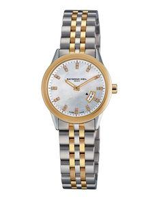 RAYMOND WEIL Watch, Women's Freelancer Two Tone Stainless Steel Bracelet 5670-STP-97091 - All Watches - Jewelry & Watches - Macy's