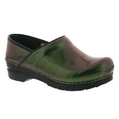 d5c4777564 Sanita Womens Original Prof Glimmer Mule Green 38 EU775 M US >>> See this
