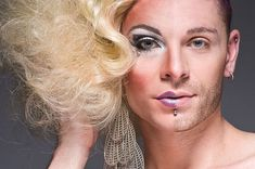 In his Half-Drag series, New York photographer Leland Bobbé captures the two sides of the city's drag queens -- the extravagantly made-up drag divas and . Drag Queen Makeup, Drag Makeup, Eye Makeup, New York Photographers, Half Man, Professional Portrait, Photo Makeup, Photo Retouching, Drag Queens